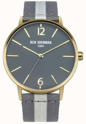 Ben Sherman Mens sangle gris cadran gris WB044EGA