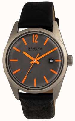 Kahuna Mens bracelet noir cadran noir KUS-0122G