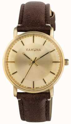 Kahuna Womens cadran champagne de bracelet brun KLS-0326L
