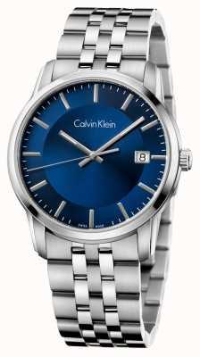 Calvin Klein Mens cadran bleu en acier inoxydable infinie K5S3114N
