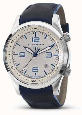 Elliot Brown Cadran blanc en cuir bleu canford pour homme 202-001-L06