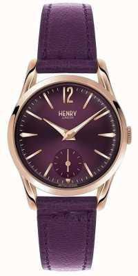 Henry London Womens cuir violet Hampstead cadran violet HL30-US-0076