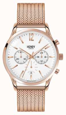 Henry London Unisexe Richmond rose plaqué or PVD HL39-CM-0034