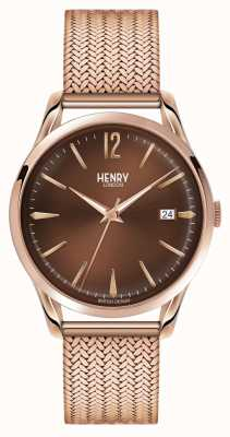 Henry London Herse unisexe rose plaqué or PVD HL39-M-0050