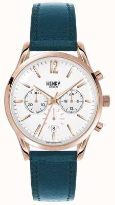 Henry London Unisexe Stratford bracelet en cuir vert HL39-CS-0144