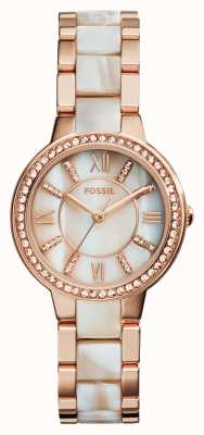 Fossil Femmes Virginia rose plaqué or PVD ES3716