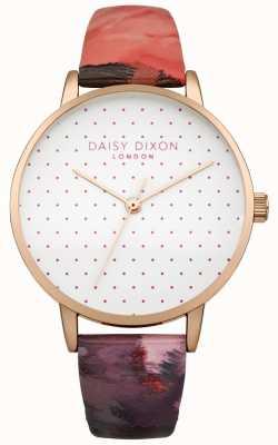 Daisy Dixon Femmes Suki rose brillant bracelet en cuir DD008PRG