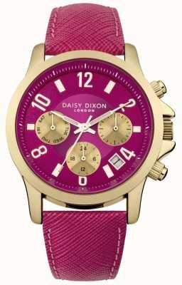 Daisy Dixon Femmes adriana cuir rose cadran bracelet rose DD002PG