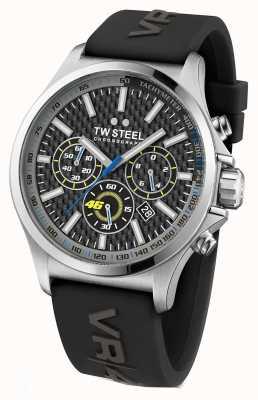 TW Steel Hommes de l'acier inoxydable de bracelet en caoutchouc noir TW939