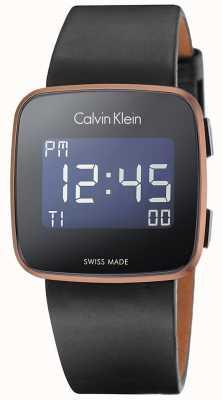 Calvin Klein Unisexe avenir numérique bracelet en cuir noir K5C11YC1
