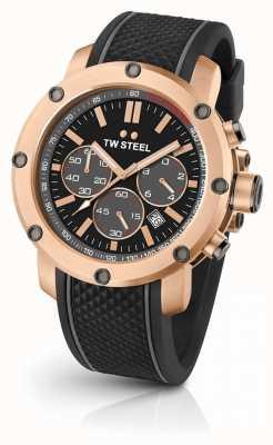 TW Steel Mens grandeur technologie bracelet en caoutchouc noir TS5