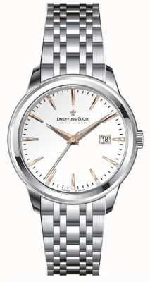 Dreyfuss Womens cadran bracelet en argent en acier inoxydable DLB00125/06