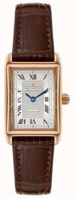 Dreyfuss Womens 1974 cuir brun cadran bracelet en argent DLS00143/06