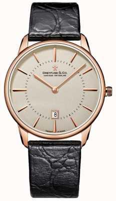 Dreyfuss Gents montres en cuir noir DGS00139/46