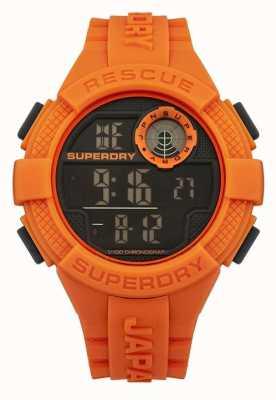 Superdry Mens radar d'orange numérique bracelet en caoutchouc SYG193O