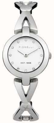 Fiorelli Womens bracelet en argent cadran blanc FO003SM