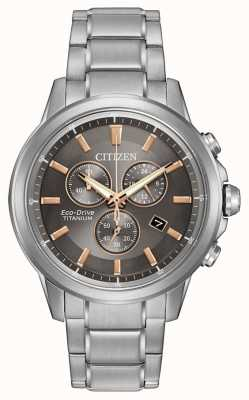 Citizen Eco-drive messieurs de titane WR100 AT2340-56H