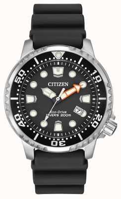 Citizen Eco-drive promaster plongeur bracelet en caoutchouc noir BN0150-28E