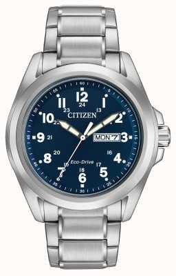 Citizen Bracelet sportif à cadran bleu eco-drive Gents AW0050-58L