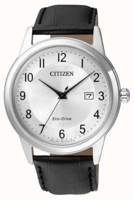 Citizen Mens eco-drive bracelet en cuir noir AW1231-07A