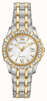 Citizen Eco-drive 28 diamants des femmes de deux tons EW2364-50A