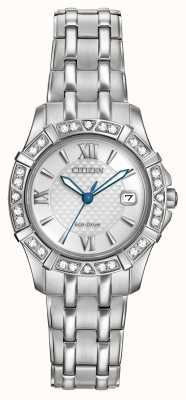 Citizen Eco-drive 28 diamants en acier inoxydable EW2360-51A