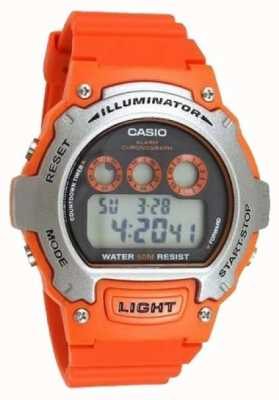 Casio alarme de sport unisexe illuminateur chronographe W-214H-4AVEF