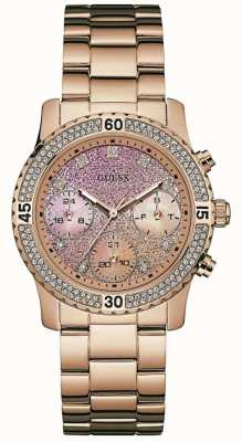 Guess confetti Womens rose plaqué PVD or W0774L3