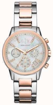 Armani Exchange Chronographe deux tons montre bracelet bracelet AX4331