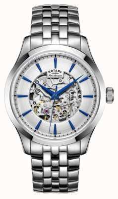 Rotary cadran bracelet en argent en acier Argent GB05032/06
