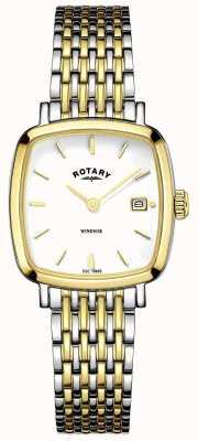Rotary Womens deux tons bracelet en métal LB05306/01