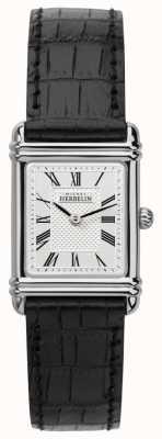 Michel Herbelin Womens esprit art déco bracelet en cuir noir 17478/08