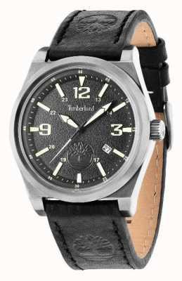Timberland Bracelet en cuir noir cadran noir 14641JSU/02