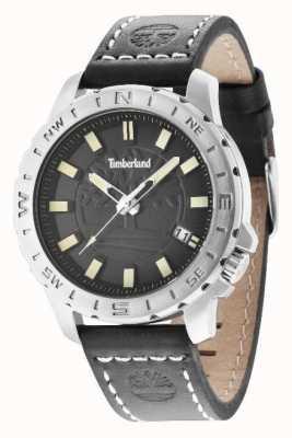 Timberland Mens bracelet en cuir noir cadran noir 14647JS/02