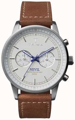 Triwa Unisex bracelet en cuir brun nevil ivoire NEST112-SC010215