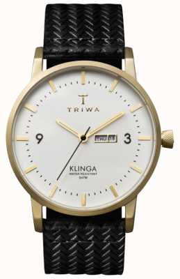 Triwa Unisexe cadran blanc Klinga avec bracelet en cuir KLST103-GC010113