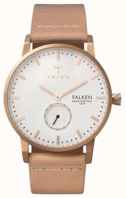Triwa Unisexe blanc bracelet cadran en cuir rose falken FAST101-CL010614