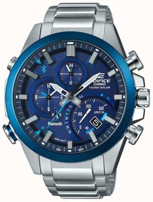 Casio Edifice bluetooth synchro solaire intelligent smartwatch bleu EQB-501DB-2AER