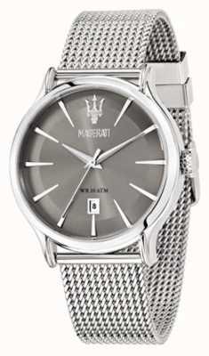 Maserati Epoca 42mm cadran gris | bracelet en maille d'acier | R8853118002
