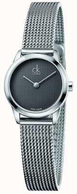 Calvin Klein Womens cadran gris minimal K3M2312X