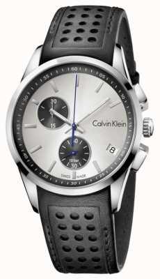 Calvin Klein Mens bracelet noir cadran blanc K5A371C6