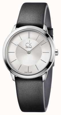 Calvin Klein Mens cadran argenté minimal K3M221C6