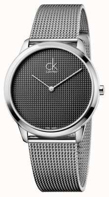 Calvin Klein Mens argent minimal montre de maille K3M2112X