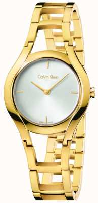 Calvin Klein plaqué or de classe Femmes cadran blanc K6R23526