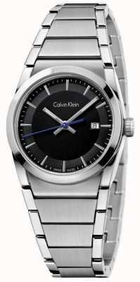 Calvin Klein Mesdames étape regarder cadran noir K6K33143
