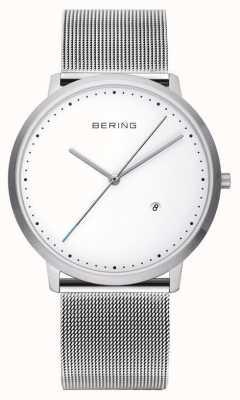 Bering Unisex bracelet en argent cadran blanc 11139-004