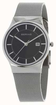Bering Bracelet noir argent cadran noir 11938-002