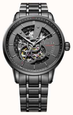 FIYTA Mens bracelet en acier inoxydable noir GA8486.BBB