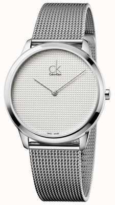 Calvin Klein Bracelet maille minimale cadran blanc K3M2112Y