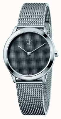 Calvin Klein Bracelet maille Minimal cadran noir K3M2212X